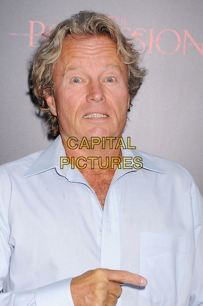 "John Savage.""The Possession"" Los Angeles Premiere held at Arclight Cinemas, Hollywood, California, USA..August 28th, 2012.headshot portrait funny hand finger pointing blue shirt .CAP/ROT/TM.©Tony Michaels/Roth Stock/Capital Pictures"