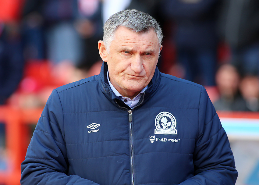 Blackburn Rovers manager Tony Mowbray  looks on<br /> <br /> Photographer David Shipman/CameraSport<br /> <br /> The EFL Sky Bet Championship - Nottingham Forest v Blackburn Rovers - Saturday 13th April 2019 - The City Ground - Nottingham<br /> <br /> World Copyright © 2019 CameraSport. All rights reserved. 43 Linden Ave. Countesthorpe. Leicester. England. LE8 5PG - Tel: +44 (0) 116 277 4147 - admin@camerasport.com - www.camerasport.com