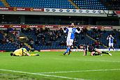 3rd October 2017, Ewood Park, Blackburn, England; Football League Trophy Group stage, Blackburn Rovers versus Bury; Bury's keeper Leonardo Fasan (38) saves a shot fronm Blackburns Danny Graham