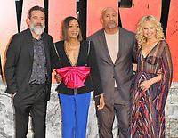 Jeffrey Dean Morgan, Naomie Harris, Dwayne Johnson and Malin Akerman at the &quot;Rampage&quot; European film premiere, Cineworld Empire, Leicester Square, London, England, UK, on Wednesday 11 April 2018.<br /> CAP/CAN<br /> &copy;CAN/Capital Pictures