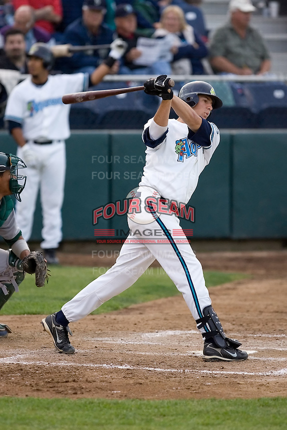 June 22, 2008: The Everett AquaSox's Nate Tenbrink at-bat against the Boise Hawks during a Northwest League game at Everett Memorial Stadium in Everett, Washington.