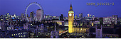 Tom Mackie, LANDSCAPES, panoramic, photos, Big Ben & London Eye at Night, London, England, GBTM060031-3,#L#