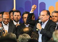 SAO PAULO, SP, 25 DE MARCO 2013 - CONVENÇÃO ESTADUAL DO PSDB - O senador Aloysio Nunes durante Conveção estadual do PSDB-SP  na noite desta segunda-feira. 25 no sede do partido na regiao sul da cidade de Sao Paulo. FOTO: WILLIAM VOLCOV - BRAZIL PHOTO PRESS