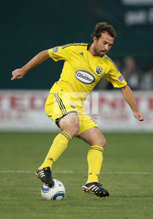 Adam Moffat #22 of the Columbus Crew during a US Open Cup semi final match against D.C. United at RFK Stadium on September 1 2010, in Washington DC. Crew won 2-1 aet.