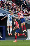 Atletico de Madrid's Saul Niguez and CD Leganes's Vasyl Kravets during La Liga match between Atletico de Madrid and CD Leganes at Wanda Metropolitano stadium in Madrid, Spain. March 09, 2019. (ALTERPHOTOS/A. Perez Meca)