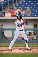 Domingo Leyba (26) of the Reno Aces bats against the Nashville Sounds at Greater Nevada Field on June 5, 2019 in Reno, Nevada. The Aces defeated the Sounds 3-2. (Stephen Smith/Four Seam Images)