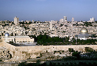 Jerusalem, Israel, November, 1980. General view of the Wailing Wall and the Al-Asqa Mosque.