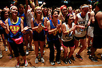 Dancers sing along to the local band, Sundy Best, with band members, Kris Bentley and Nick Jamerson at DanceBlue on March 3, 2012 in Memorial Coliseum.