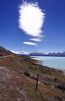 New Zealand,  December 1994  ..New Zealand Lake Pukaki..Photo Kees Metselaar