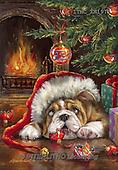 Marcello, CHRISTMAS ANIMALS, WEIHNACHTEN TIERE, NAVIDAD ANIMALES, paintings+++++,ITMCXM1971,#XA# ,dogs,puppies