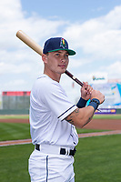 Cedar Rapids Kernels outfielder DaShawn Keirsey (5) poses for a photo before a Midwest League game against the Dayton Dragons at Perfect Game Field on May 5, 2019 in Cedar Rapids, Iowa. (Zachary Lucy/Four Seam Images)