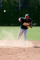 Carlos Arrieche - Oakland Athletics - 2009 spring training.Photo by:  Bill Mitchell/Four Seam Images