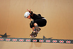 Cara-Beth Burnside competes in the women's vert competition at the Staples Center during X-Games 12 in Los Angeles, California on August 3, 2006.