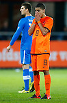 Nederland, Rotterdam, 15 oktober 2012.Interland.Jong Oranje-Jong Slowakije.Adam Maher van Jong Oranje treurt om een gemiste kans