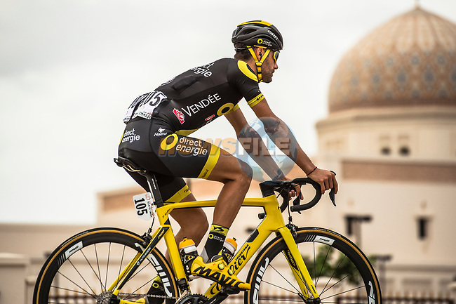 Fabien Grellier (FRA) Direct Energie before the start of Stage 5 of the 10th Tour of Oman 2019, running 152km from Samayil to Jabal Al Akhdhar (Green Mountain), Oman. 20th February 2019.<br /> Picture: ASO/Kåre Dehlie Thorstad | Cyclefile<br /> All photos usage must carry mandatory copyright credit (© Cyclefile | ASO/Kåre Dehlie Thorstad)