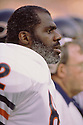 Chicago Bears Alan Page (82) during a game from his career with the Chicago Bears. Alan Page played for 16 years with 2 different teams was a 9-time Pro Bowler and was inducted to the Pro Football Hall of Fame in 1988.(SportPics)