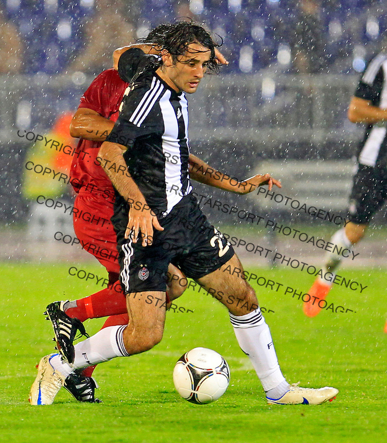 Stefan Babovic  Partizan vs Valletta UEFA Champions League 2nd Qualifying Round 2nd Leg 24.7.2012. Belgrade Serbia, Valeta, Beograd Srbija (photo: Pedja Milosavljevic / thepedja@gmail.com / +381641260959)