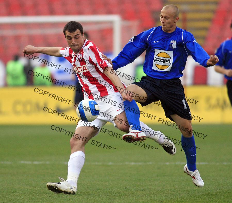 Sport Fudbal Crvena Zvezda Napredak Krusevac Meridian Liga Nenad Milijas i Binic Vladan 3.4.2008. photo: copyright © Pedja Milosavljevic 2008
