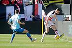 Atletico de Madrid's Santiago Arias  and Rayo Vallecano's Jordi Amat  during La Liga match. February 16,2019. (ALTERPHOTOS/Alconada)