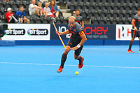 Netherlands captain Billy Bakker in action during the Hockey World League Semi-Final match between England and Netherlands at the Olympic Park, London, England on 24 June 2017. Photo by Steve McCarthy.