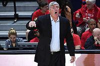 Washington, DC - Sept 17, 2019: Las Vegas Aces head coach Bill Laimbeer on the sidelines during WNBA Playoff semi final game between Las Vegas Aces and Washington Mystics at the Entertainment & Sports Arena in Washington, DC. The Mystics hold on to beat the Aces 97-95. (Photo by Phil Peters/Media Images International)