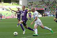 Aaron Mooy  during the  A-League soccer match between Melbourne City FC and Perth Glory at AAMI Park on February 22, 2015 in Melbourne, Australia.