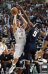 Ersan ILYASOVA (Turkey) shoots over Kevin DURANT (USA) during the Final World championship basketball match against USA in Istanbul, Turkey-USA, Turkey on Sunday, Sep. 12, 2010. (Novak Djurovic/Starsportphoto.com) .