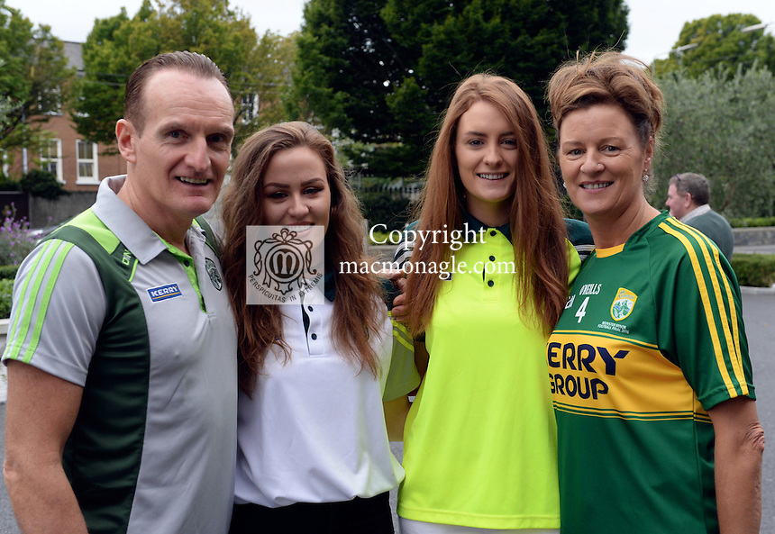 Michael, Rita, Lauren and Kelsey O'Sullivan, Cahersiveen.<br /> <br /> Kerry win the 2016 All-Ireland Minor Football Championship.<br /> Photo Don MacMonagle