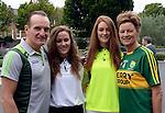 Michael, Rita, Lauren and Kelsey O'Sullivan, Cahersiveen.<br /> <br /> Kerry win the 2016 All-Ireland Minor Football Championship.<br /> Photo Don MacMonagle