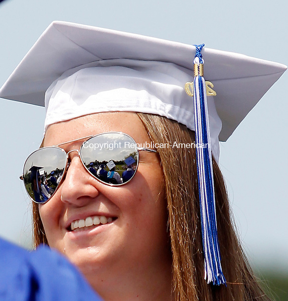 Washington, CT-26, June 2010-062610CM07 Shepaug Valley High School graduate, Stacy Sullivan is all smiles during commencement ceremonies Saturday afternoon in Washington.  --Christopher Massa Republican-American