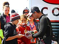 May 21, 2017; Topeka, KS, USA; NHRA top fuel driver Steve Torrence during the Heartland Nationals at Heartland Park Topeka. Mandatory Credit: Mark J. Rebilas-USA TODAY Sports