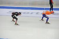 SPEEDSKATING: BERLIN: Sportforum Berlin, 29-01-2017, ISU World Cup, 3000m Ladies A Division, Claudia Pechstein (GER), Antoinette de Jong (NED), ©photo Martin de Jong
