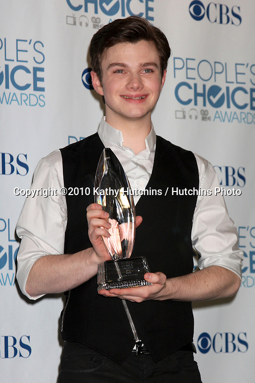 LOS ANGELES - JAN 5:  Chris Colfer arrives at 2011 People's Choice Awards at Nokia Theater at LA Live on January 5, 2011 in Los Angeles, CA.