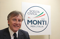Maurizio Rossi.Roma 15/02/2013 Presentazione del programma per lo sport della Scelta Civica Monti per l'Italia..The italian premier presents his program for sport for the next elections 2013 and candidate two of the best athlets in the world at the past olympic and paralympic games. .Photo Samantha Zucchi Insidefoto
