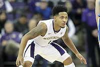 JAN 1, 2016:  Washington's David Crisp against UCLA.  Washington defeated #25 ranked UCLA 96-93 in double overtime at Alaska Airlines Arena in Seattle, WA.