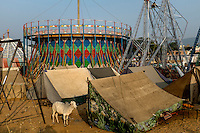 Pushkar fair ground. Rajasthan, India.