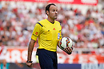 Referee Mateu Lahoz during La Liga match between Rayo Vallecano and Barcelona at Vallecas stadium in Madrid, Spain. October 04, 2014. (ALTERPHOTOS/Victor Blanco)