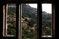 A view from a window of a Palestinian destroyed house in Lifta, a Palestinian village in the outskirts of Jerusalem, whose Palestinian inhabitants fled in 1948. The village, the last standing Palestinian village of its kind, is about to be turned into a luxury Israeli neighborhood,  Photo by Quique Kierszenbaum