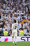 Daniel Carvajal Ramos of Real Madrid celebrates during the La Liga 2018-19 match between Real Madrid and Getafe CF at Estadio Santiago Bernabeu on August 19 2018 in Madrid, Spain. Photo by Diego Souto / Power Sport Images