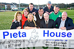 Pictured at the unveiling of a pitch side sign at Killarney Celtic have teamed up with Pieta House were Mary Lyne, Annemarie Gallivan, Maurice Guilfoyle, Eugene Cosgrave, Suzanne Scully, Padrag Harnett, Der Lyne, Mairtin Driver and Joe O'Shea.