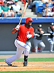2 March 2011: Washington Nationals outfielder Roger Bernadina in Spring Training action against the Florida Marlins at Space Coast Stadium in Viera, Florida. The Nationals defeated the Marlins 8-4 in Grapefruit League action. Mandatory Credit: Ed Wolfstein Photo