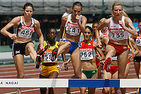 Women's Steeplechase heat at the 11th. IAAF World Championships on Saturday, August 25, 2007.Photo by Errol Anderson, The Sportin Image.