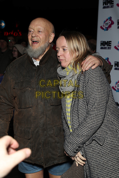 Michael Eavis, Emily Eavis<br /> The VO5 NME Awards 2017 at the O2 Academy, Brixton, London on February 15th 2017<br /> CAP/GOL<br /> &copy;GOL/Capital Pictures