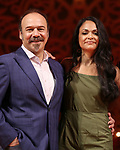 "Danny Burstein and Karen Olivio from ""Moulin Rouge!"" The Broadway Musical at the Al Hirschfeld Theatre on July 9, 2019 in New York City."