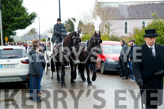 The funeral of Tina McElligott at Kilflynn on Wednesday.