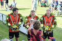 KAATSEN: DONGJUM: 28-05-2017, Kaatsvereniging Moed en Volharding, winnaars Taeke Triemstra en Tjisse Steenstra (koning) Gert-Anne van der Bos,, ©foto Martin de Jong