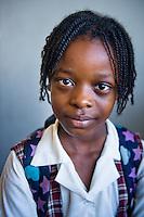 Montego Bay, Jamaica. School girls at local school. Jamaica Tourism.