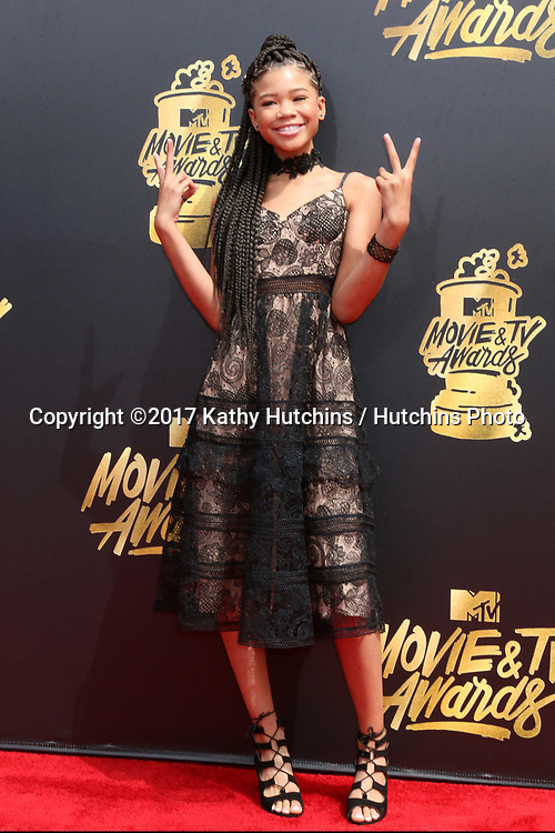 LOS ANGELES - MAY 7:  Storm Reid at the MTV Movie and Television Awards on the Shrine Auditorium on May 7, 2017 in Los Angeles, CA