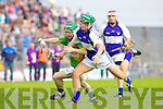 Kevin Orpen Saint Brendans in action against James Flaherty Lixnaw in the Senior County Hurling Final at Austin Stack Park Tralee on Sunday.1