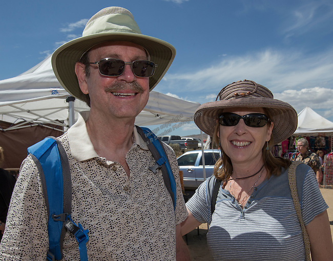 Gary and Alice Jones from Lake Tahoe at the Numaga Indian Days Pow Wow in Hungry Valley on Saturday, Sept. 3, 2016.